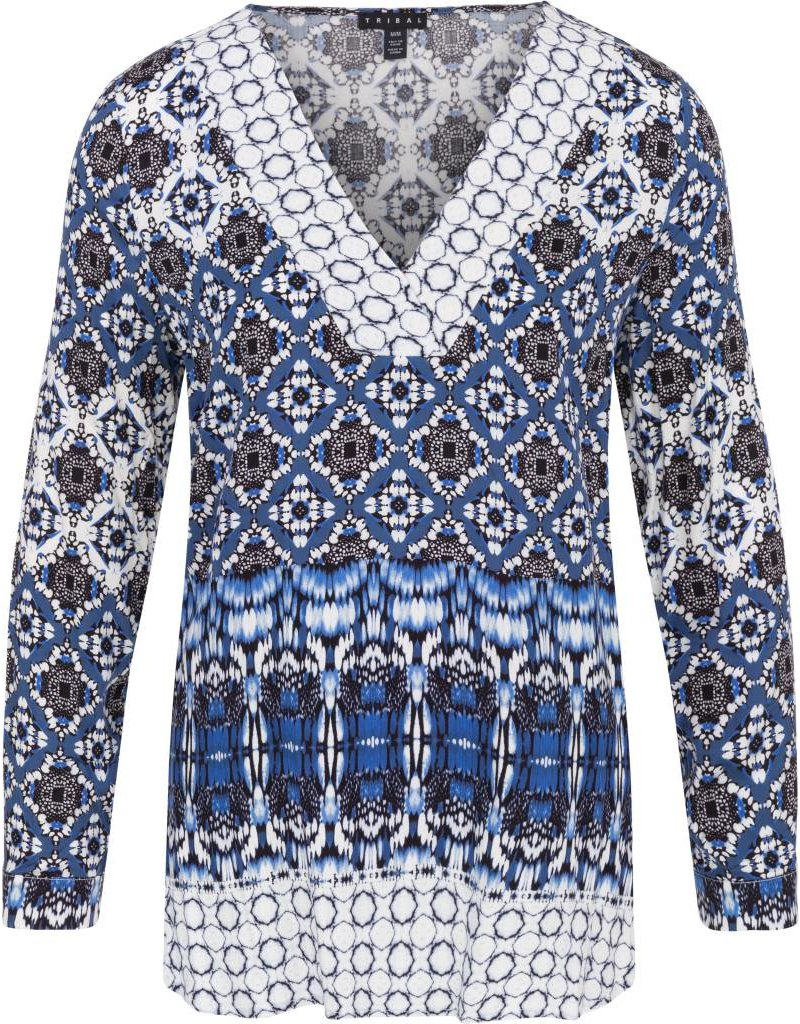 Tribal Tribal Long Sleeve Tunic Blouse