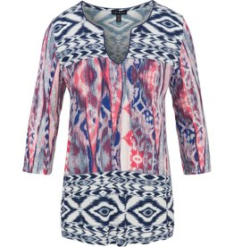 Tribal Tribal 3/4 Sleeve Henley Top