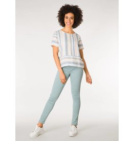 aeae8cd9ebf Yest Yest Linen Stripe Mix Tee