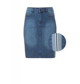 Yest Yest Athletic Stripe Denim Skirt