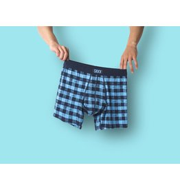 Saxx Saxx Undercover Boxer Brief - Blue Gingham