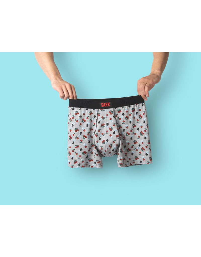 Saxx Saxx Undercover Boxer Brief - Grey Heather Cherry Bomb
