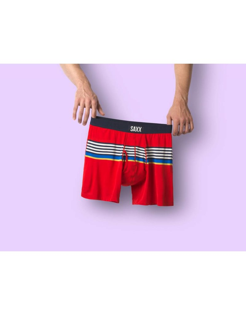 Saxx Saxx Ultra Boxer Brief Fly - Red Regatta Stripe