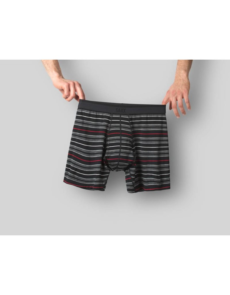 Saxx Saxx Platinum Boxer Brief - Black Tidal Stripe