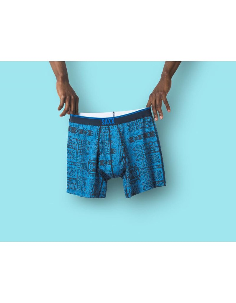 Saxx Saxx Quest Boxer Brief Fly - Blue Dive Tribe