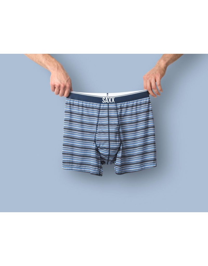 Saxx Saxx Quest Loose Boxer Fly - Blue Daybreak Stripe