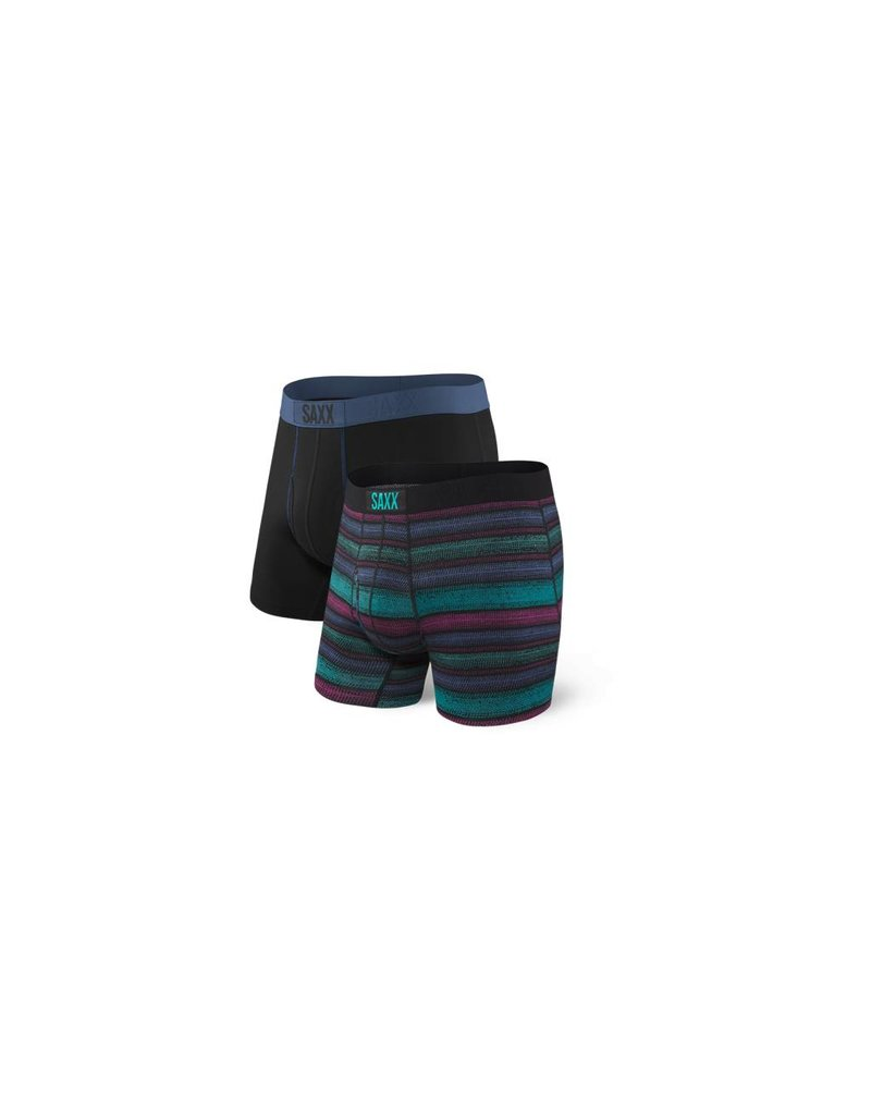 Saxx Saxx Ultra Boxer Brief Fly 2 Pack - Crossgrain Stripe