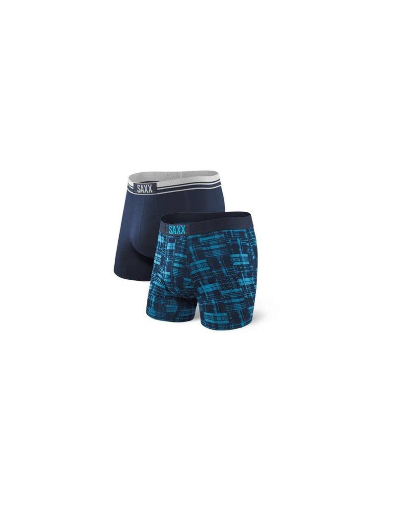 Saxx Saxx Vibe Boxer Brief 2 Pack - Plaid