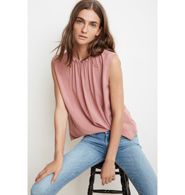 Velvet Velvet Wenna Rayon Challis Short Sleeved Top