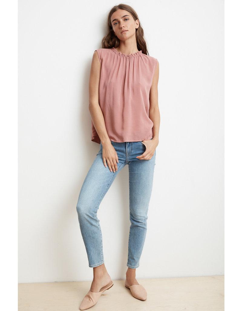 Velvet Velvet Wenna Rayon Challis Short Sleeved Top