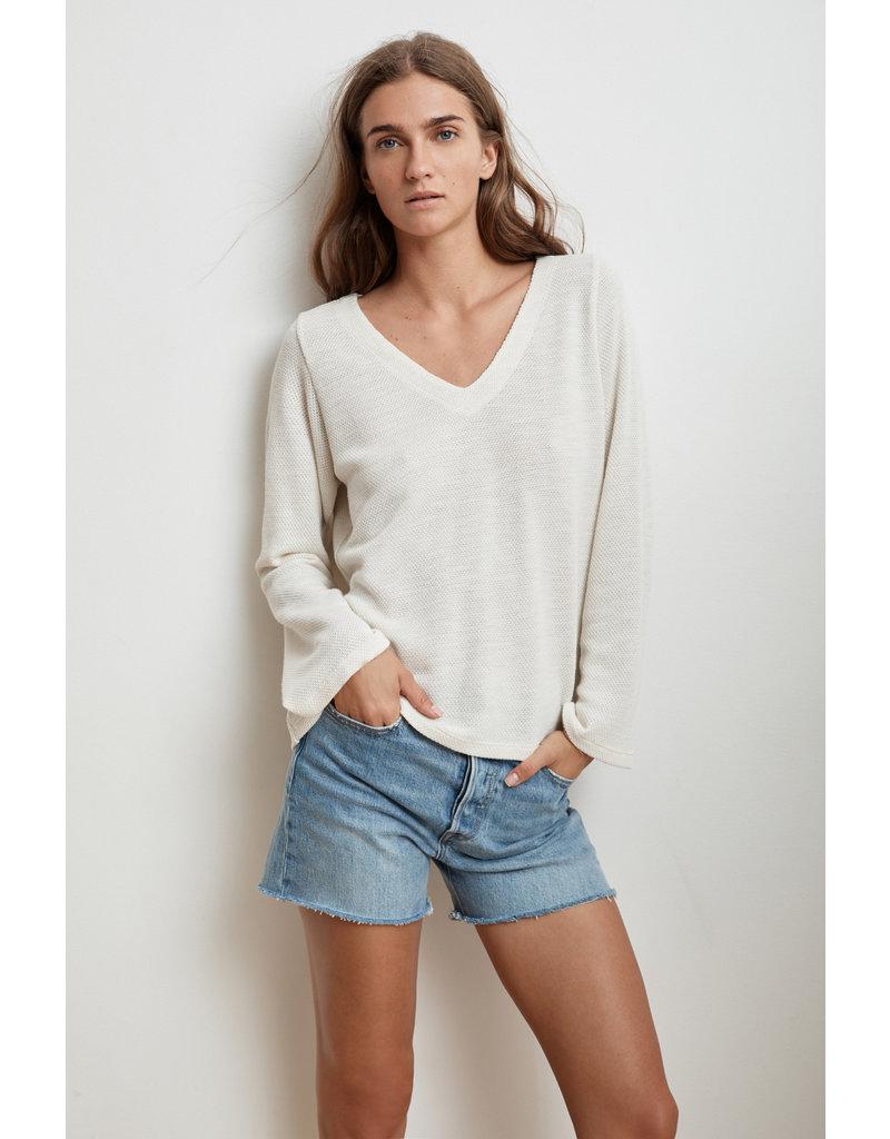 Velvet Velvet Yamina Textured Cotton Thermal Top