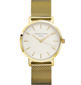 Rosefield Rosefield Mercer Large Face Rose Gold Mesh Watch