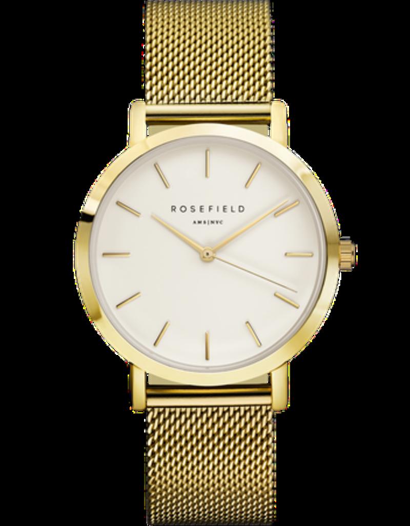 Rosefield Rosefield Mercer Large Face Rose Gold Mesh Watch