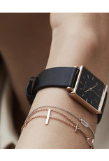 Rosefield Rosefield The Boxy Black Leather Watch