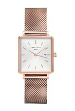 Rosefield Rosefield The Boxy Rose Gold Mesh Watch