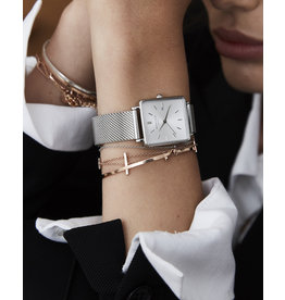 Rosefield Rosefield The Boxy Silver Mesh Watch