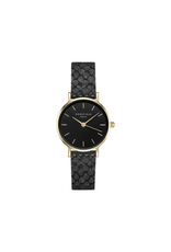 Rosefield Rosefield The Small Edit Black/Black Leather Watch