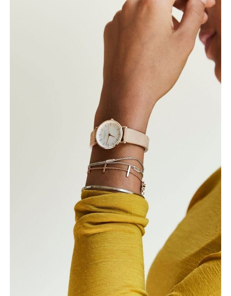Rosefield Rosefield The Small Edit Blush Leather Watch