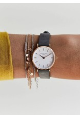 Rosefield Rosefield The Small Edit Grey Leather Watch