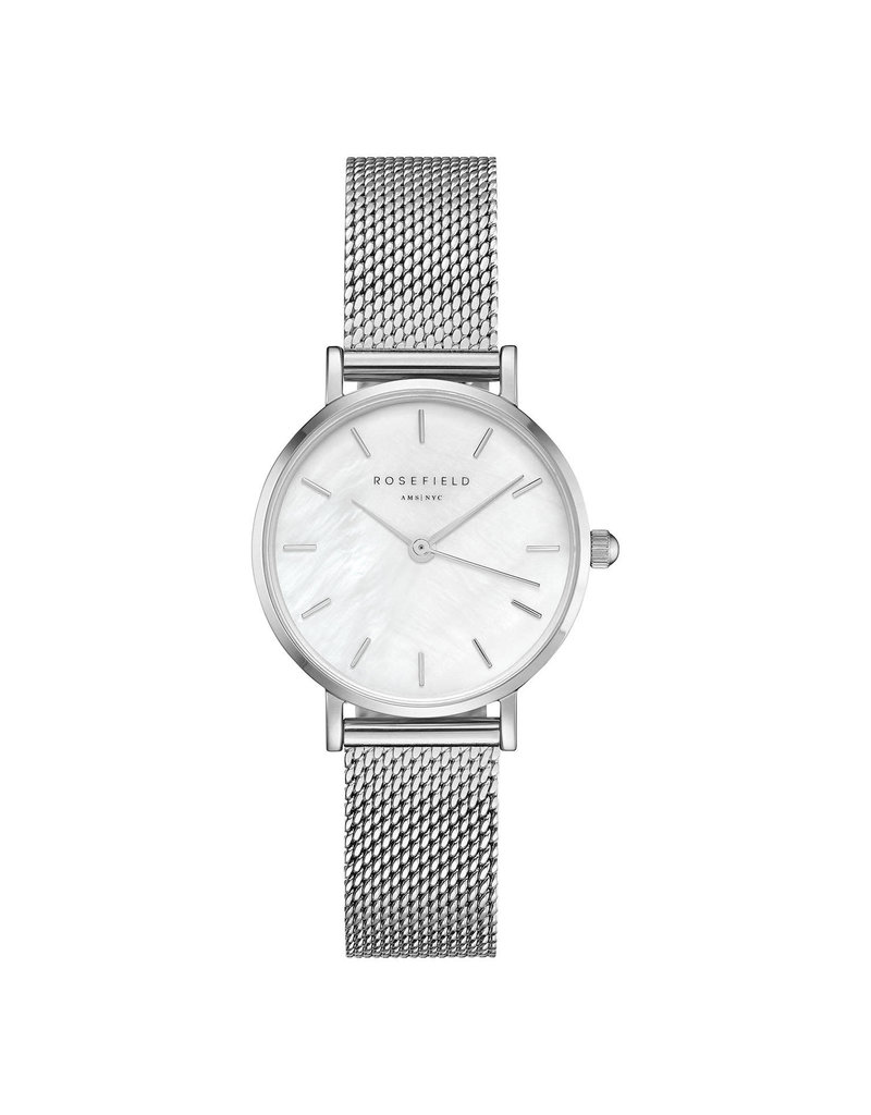 Rosefield Rosefield The Small Edit Silver Mesh Watch