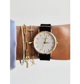 Rosefield Rosefield West Village Black Gold Watch