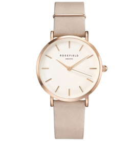 Rosefield Rosefield West Village Blush Nubuck Watch