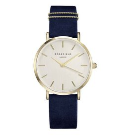 Rosefield Rosefield West Village Navy Nubuck Watch