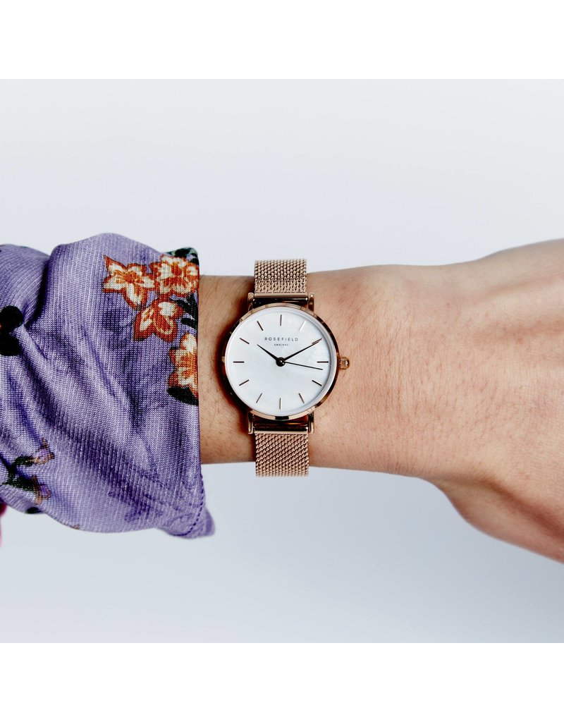Rosefield Rosefield The Small Edit Rose Gold Mesh Watch