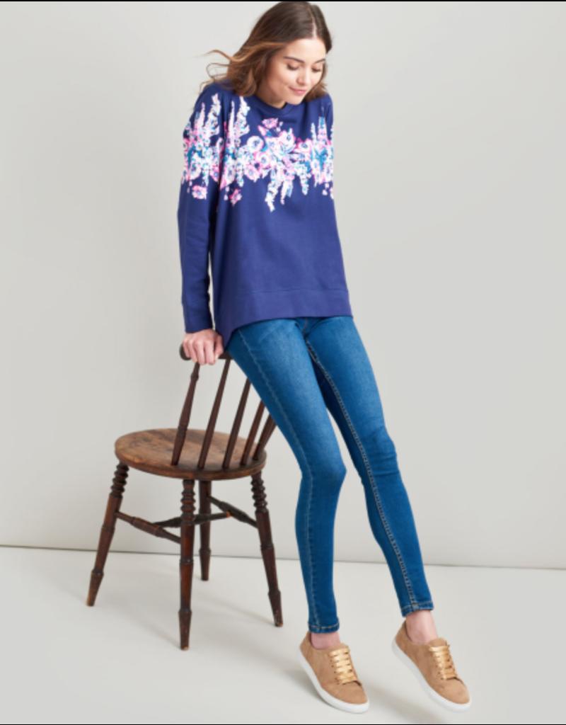 Joules Joules Ellen Blue Floral Border Sweatshirt