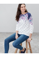 Joules Joules Harbour Print Cream Floral Spot Tee