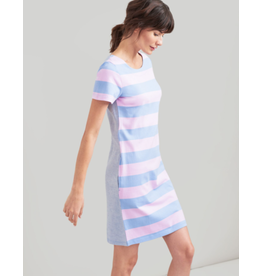 Joules Joules Ottie Blue Pink Stripe Dress