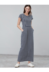 Joules Joules Trudy Cream Navy Stripe Long Dress