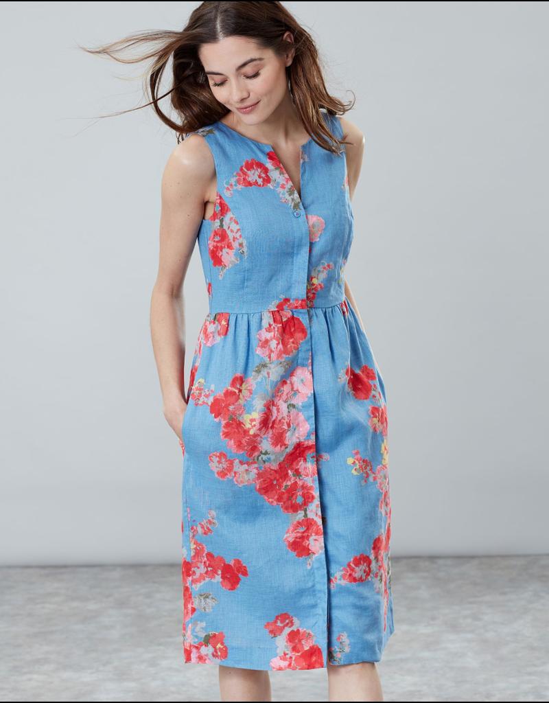 Joules Joules Lisia Blue Floral Dress