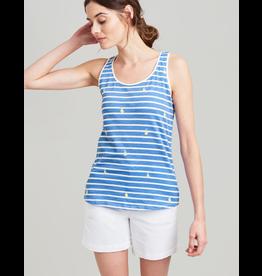 Joules Joules Bo Print Blue Pear Stripe Tank
