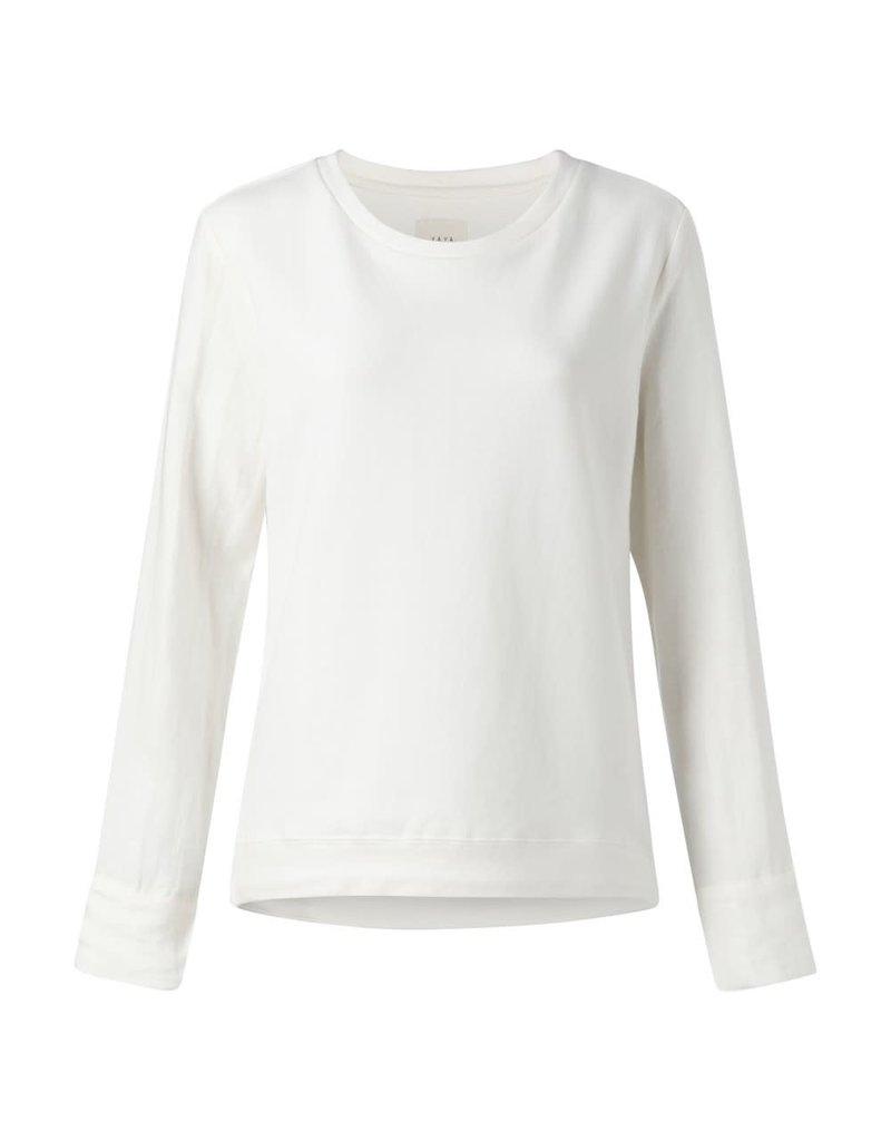 Yaya Yaya Jersey Fabric Mix Sweater