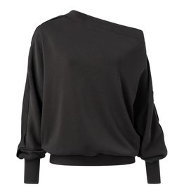 Yaya Yaya Jersey Asymmetric Off Shoulder Sweater