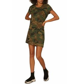 Sanctuary Sanctuary One Pocket T-Shirt Dress Camo