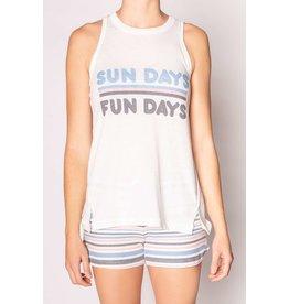 PJ Salvage PJ Salvage Sundays Fundays Tank + Short