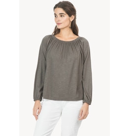 Lilla P Lilla P Long Sleeve Shirred Neck