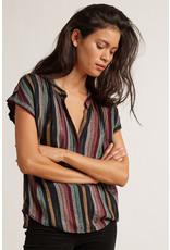 Velvet Velvet Corina Lurex Stripe Top