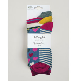 Thought Thought Hearts and Stripes Sock Set
