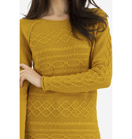 Tribal Tribal LS Cable Sweater