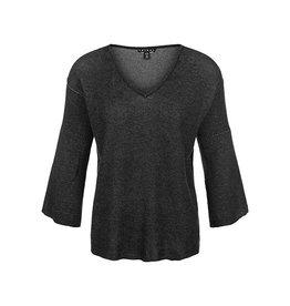 Tribal Tribal Reversible 3/4 Flutter Sleeve Sweater