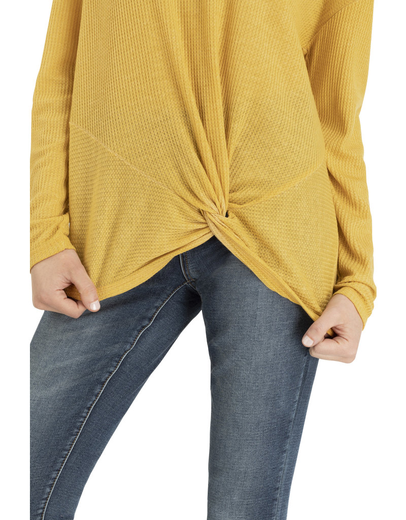 Tribal Tribal LS Top with Twisted Front