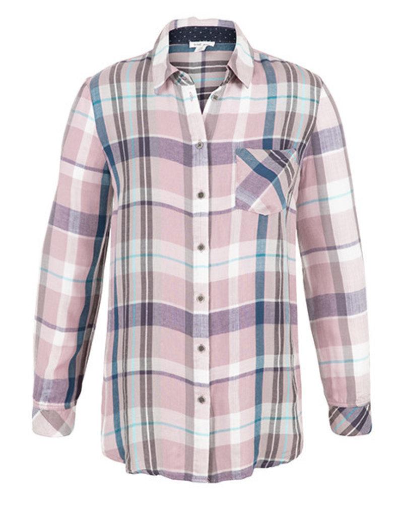 Tribal Tribal Long Sleeve Shirt with Print Back