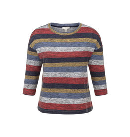 Tribal Tribal 3/4 Sleeve Boat Neck Wide Top