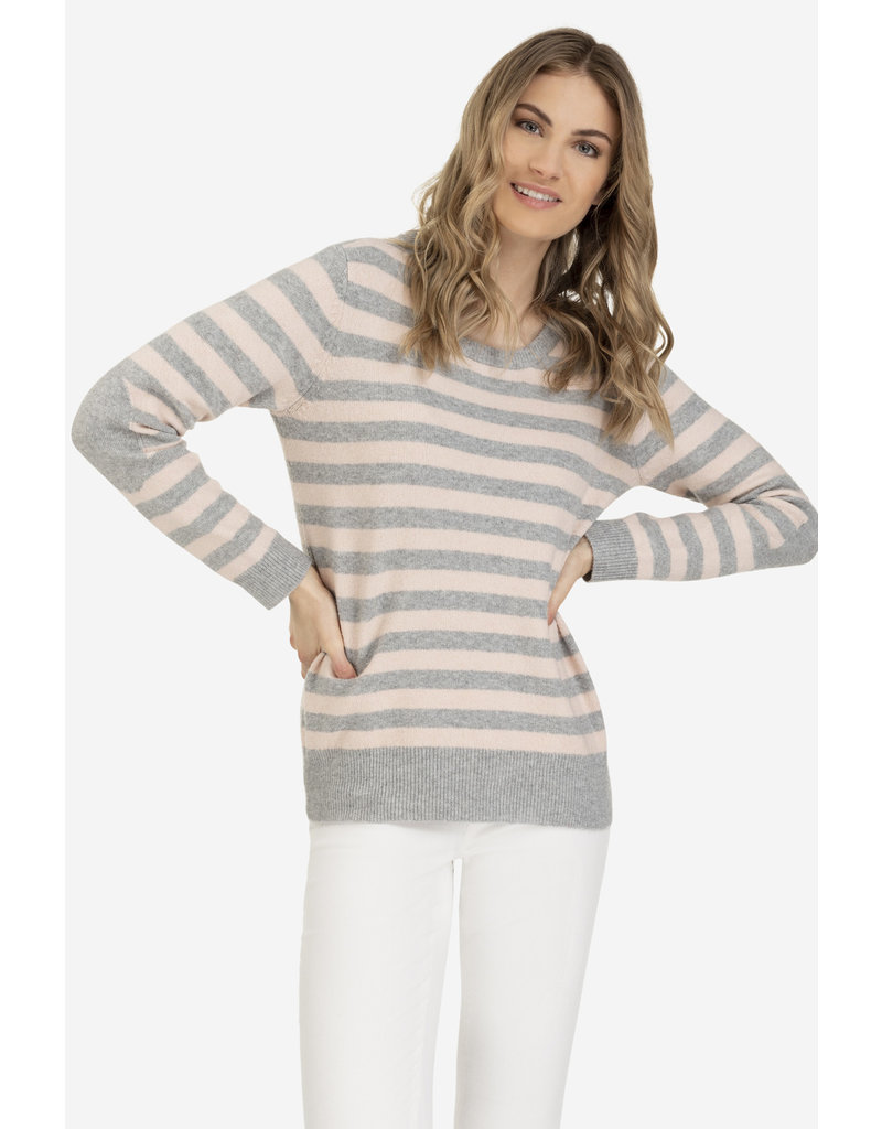 Tribal Tribal Crewneck Sweater with Elbow Patch