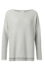Yaya Yaya Basic Cotton Boatneck Sweater