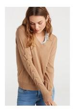 Yaya Yaya Ruched Sleeve Sweater