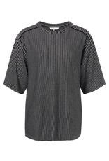 Yaya Yaya Striped Half Sleeve Top